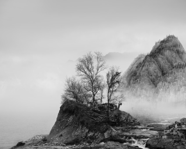 , '太古蜃市 - 岩 Time Immemorial - The Rock,' 2016, Matthew Liu Fine Arts