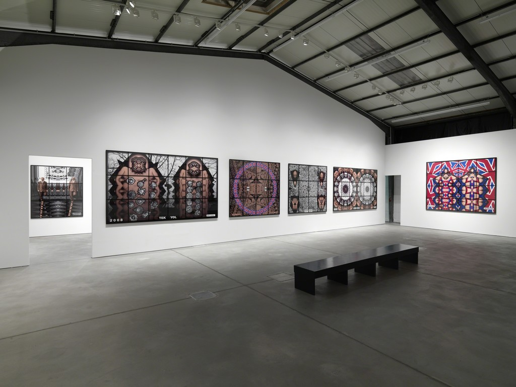 "Installation view. Gilbert & George ""JACK FREK PICTURES"", Arndt & Partner, Berlin, Germany. June 13 - September 18, 2009"