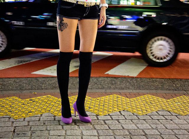 , 'Black Shibuya,' 2008, Fifty Dots