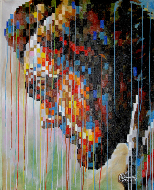Mumpasi Meso, 'Abrahame Lincoln', 2019, Painting, Acrylic on canvas, MOVART