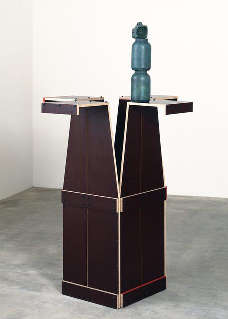 """, 'Ohne Titel (Diese vier umgedrehte """"Kollapsbretter"""" benutzt man während der Hinrichtung im Walla Walla..."""",' 1990, Galerie Isabella Czarnowska"""