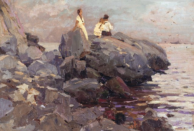 , 'Warm afternoon,' 1948, Surikov Foundation