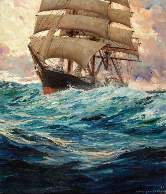 Anton Otto Fischer, 'Clipper Ship at Sea', 1934, Painting, Oil on Canvas, The Illustrated Gallery