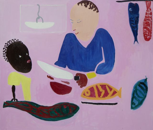 , 'Chopping Fish,' 2016, Paul Stolper Gallery