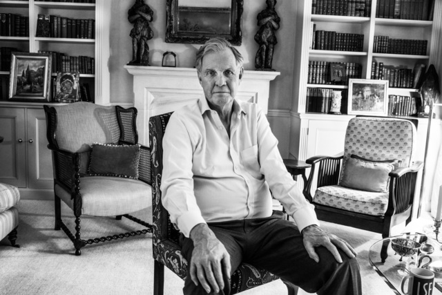 , 'Jonathan Aitken in his Earls Court home, which he almost lost to bankruptcy  after going to jail for perjury. London.,' 8 May 2015, Pace/MacGill Gallery