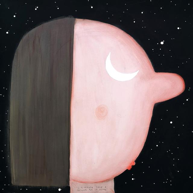 Moisés Yagües, 'Si tu mirada sale a pasear por la noche', 2020, Painting, Mixed media on paper, Galería Marita Segovia