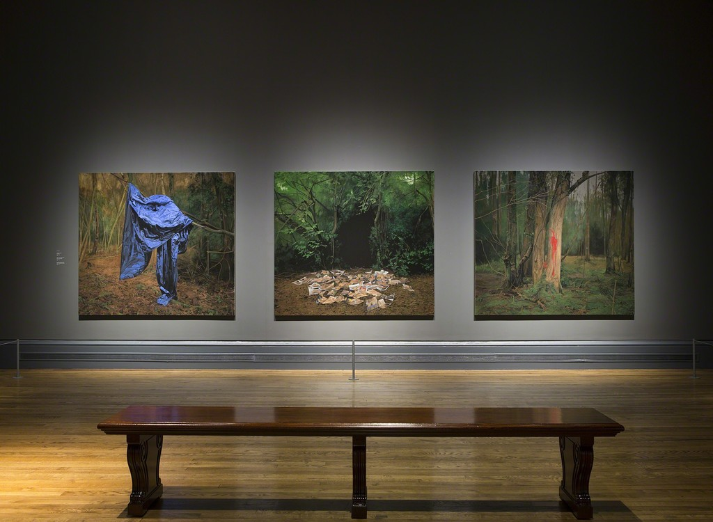 George Shaw Exhibition Installation shots © The National Gallery, London