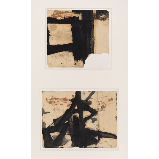 , 'Untitled (diptych),' 1952, Allan Stone Projects