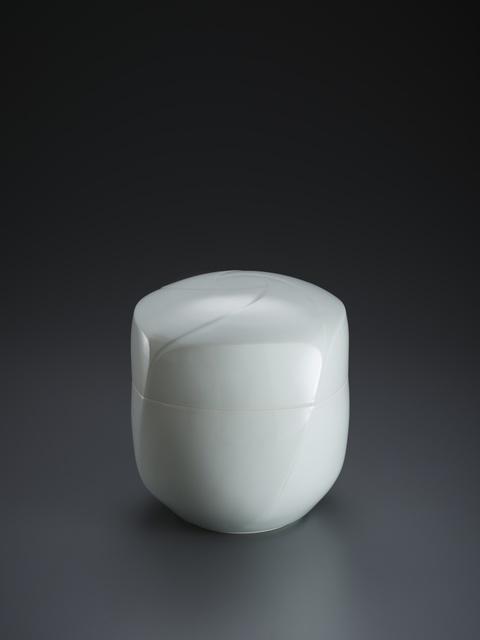 ", 'Sculpted Blue-White Porcelain ""Pinwheel"" Lidded Box,' 2018, Onishi Gallery"