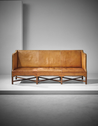 Three-seater box-shaped sofa, model no. 4118