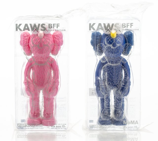 KAWS, 'BFF Companion (Black and Pink), two works', 2017, Heritage Auctions