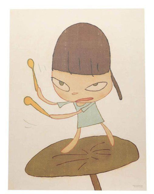 """Yoshitomo Nara, '""""MARCHING ON A BUTTERBUR LEAF"""" ', 2019, Print, Offset lithograph printed in colours, Arts Limited"""