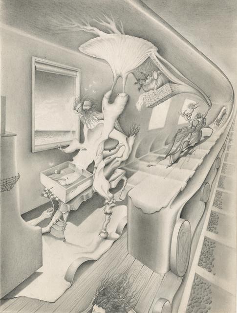 , 'Untitled [Morphing Passageway with Figures],' ca. 1946, Francis M. Naumann Fine Art
