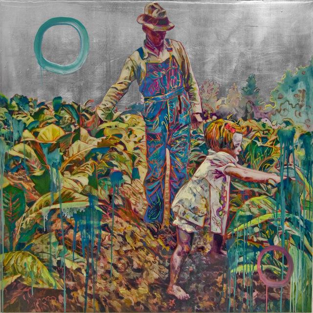 , 'Tobacco Field (silver),' 2018, Nancy Hoffman Gallery