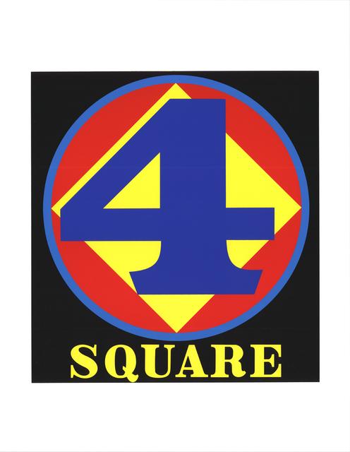Robert Indiana, 'Polygon: Square (Four)', 1997, Print, Silkscreen, ArtWise