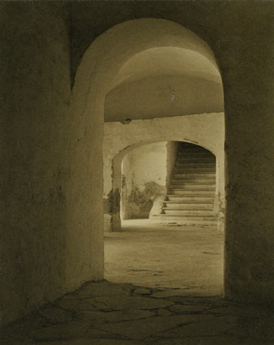 , 'Convent of Tepotzotlan, Mexico (Stairs through Arches),' 1924, Scott Nichols Gallery
