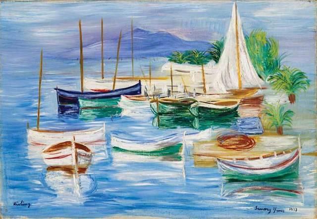 , 'Mouillage à Sanary sur mer,' 1937, Arts et Autographes