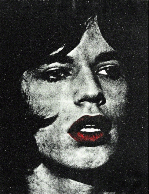 , 'Mick Jagger with Red Lips,' 2011, Rosier Gallery