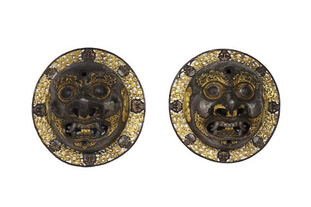Unknown Tibetan, 'A pair of door bosses', Ca. 16th–17th century, Rossi & Rossi