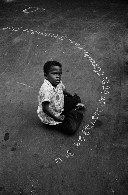 , 'Boy with Chalked Numbers, NYC,' 1956, PDNB Gallery