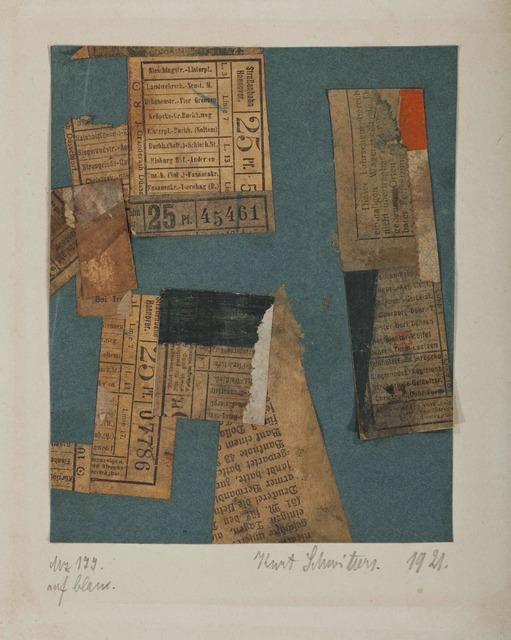 , 'Mz 177 auf blau,' 1921, Adler & Conkright Fine Art