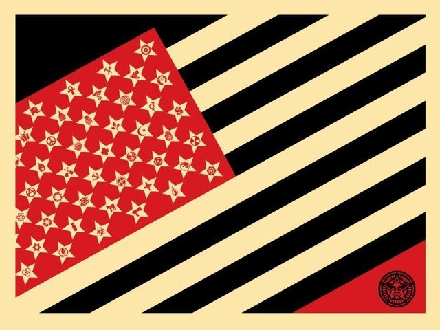 Shepard Fairey, 'Mayday Flag Small', 2018, DIGARD AUCTION