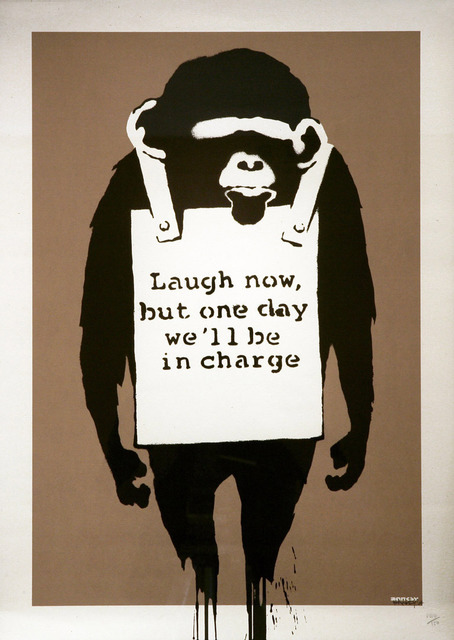 Banksy, 'Laugh Now', 2003, IFAC Arts