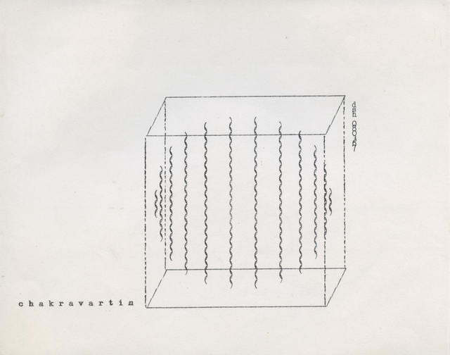 Dom Sylvester Houédard, 'chakravartin', 1967, Drawing, Collage or other Work on Paper, Typed page, Lisson Gallery