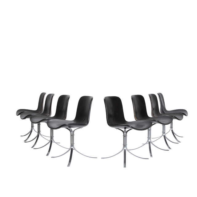 , 'Set of eight PK 9 chairs,' 1960, Dansk Møbelkunst Gallery