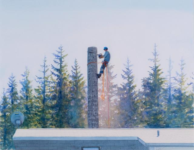 , 'Man Cutting Tree,' 2010, Wentrup