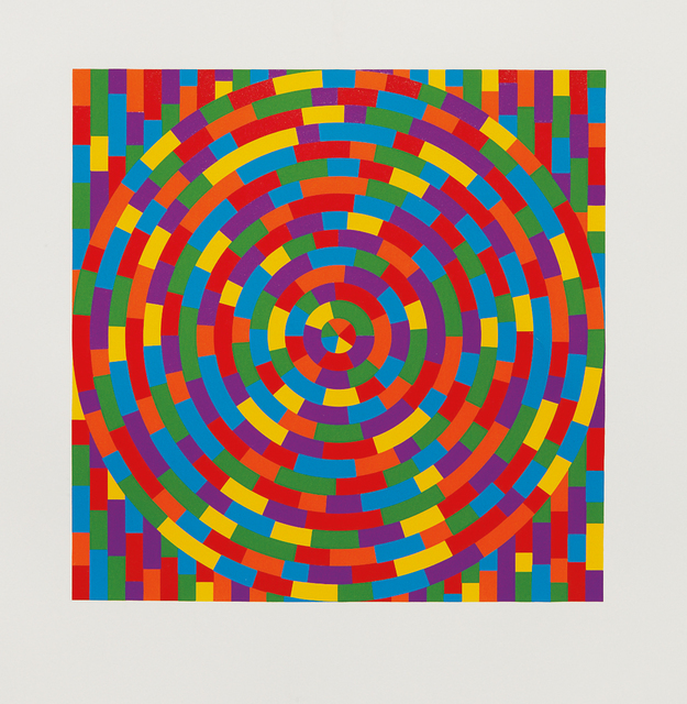 Sol LeWitt, 'Circle with Broken Bands Within a Square', 2003, Phillips