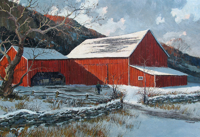 , 'Barn in Winter,' , Caldwell Gallery Hudson