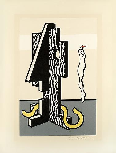 Roy Lichtenstein, 'Figures (From Surrealist Series)', 1978, Print, Lithograph in colours on Arches paper 88, artrepublic