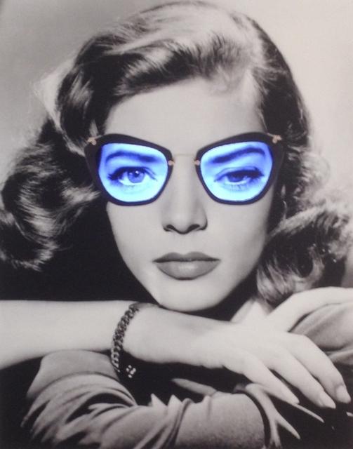 Daniel Cherbuin, 'Fiinta Si neantul (Lauren Bacall)', 2014, Video/Film/Animation, Mixed media, print on glass, wooden frame,, Galerie von Braunbehrens