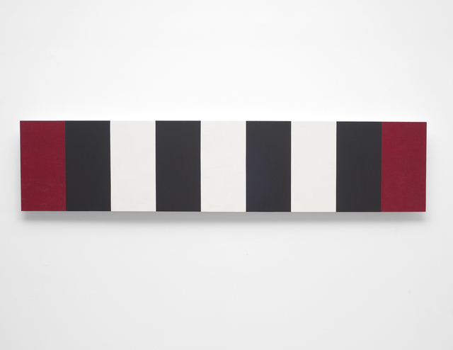 , 'Untitled (Red/White/Black Bands/Beveled) ,' 2010, NYEHAUS