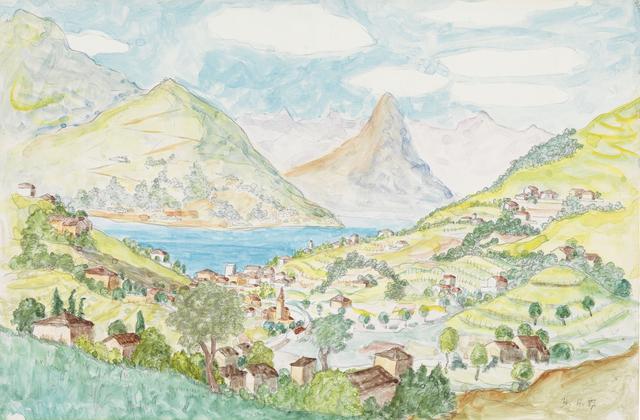 , 'Montagnola - Blick auf den Luganersee,' 1937, Ludorff