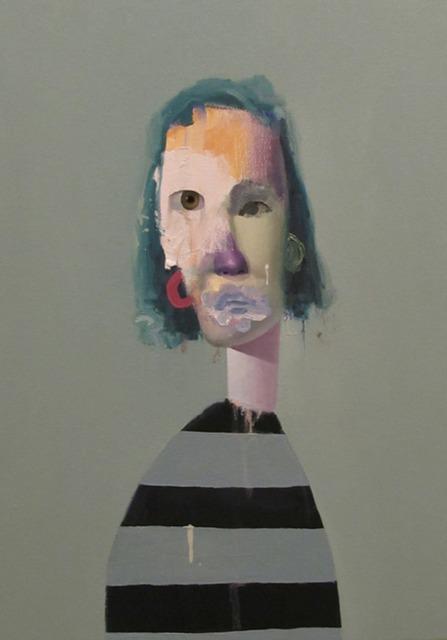 , 'Untitled Portrait with Six Stripes and Purple Painted Nose,' 2013, envoy enterprises