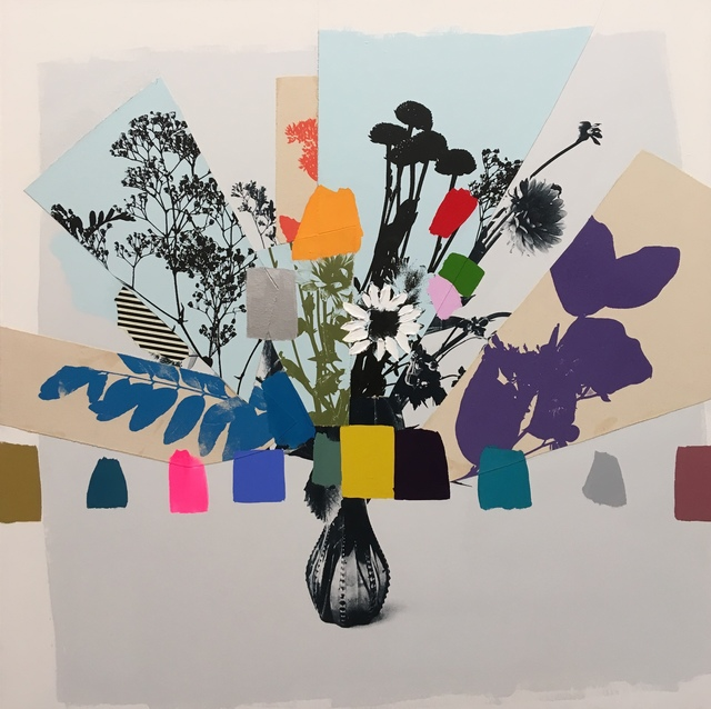 , 'Vintage Bouquet (Purple + Blue Leaves),' 2017, Kahn Gallery