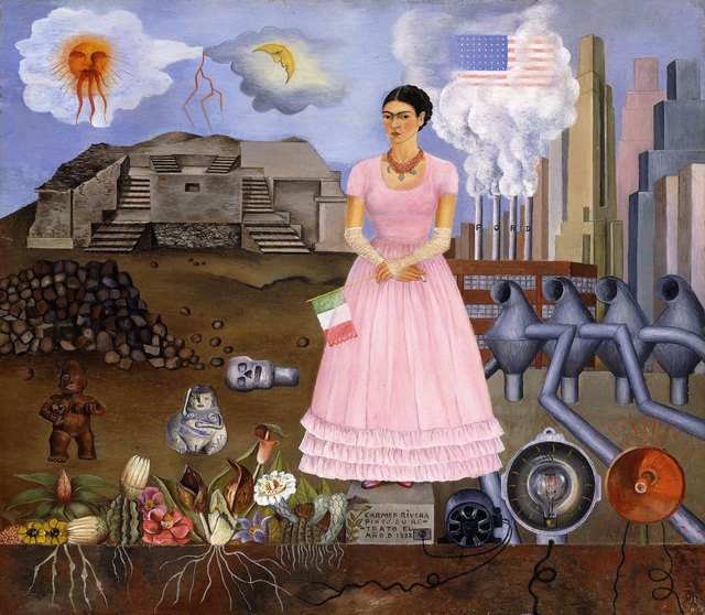 , 'Self-Portrait on the Border Line Between Mexico and the United States,' 1932, Philadelphia Museum of Art