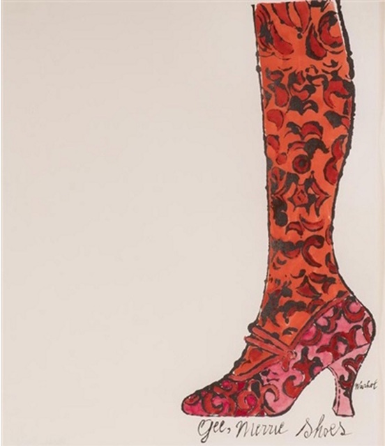 Andy Warhol, 'Boot', 1954, Painting, Watercolor, Markowicz Fine Art