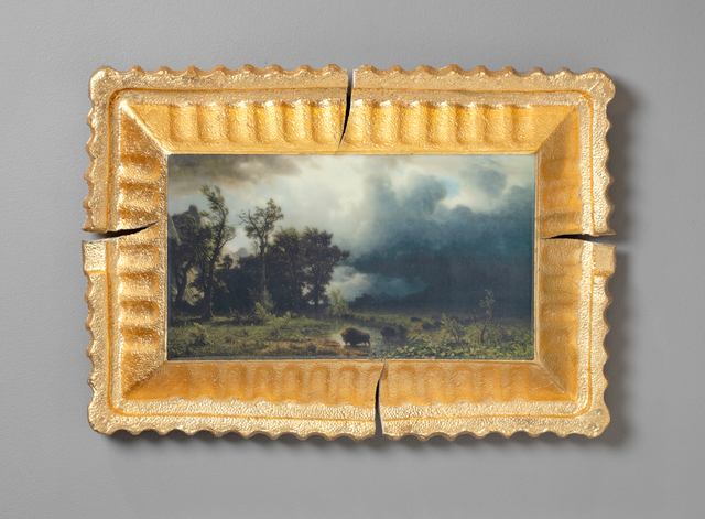 Evan Hauser, 'Preservation & Use (Buffalo Trail: The Impending Storm, Albert Bierstadt, 1869)', 2019, Ferrin Contemporary