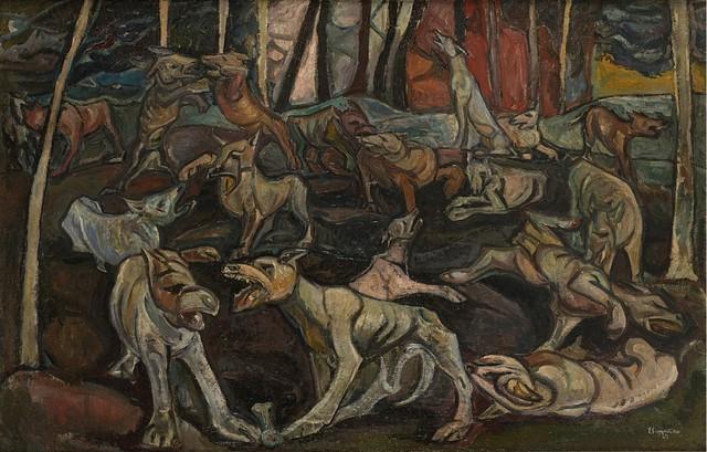 Emilio Scanavino, 'La battaglia dei cani', 1949, Finarte