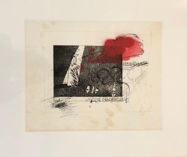 David Hockney, 'WORKING PROOF FOR 'THE GOSPEL SINGING (GOOD PEOPLE)'', 1961, Mr & Mrs Clark's