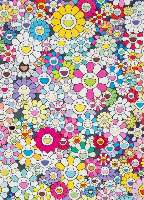 Takashi Murakami, 'Shangri-La Shangri-La Multicolor', 2013, Print, Offset lithograph in colors on satin wove paper, Heritage Auctions