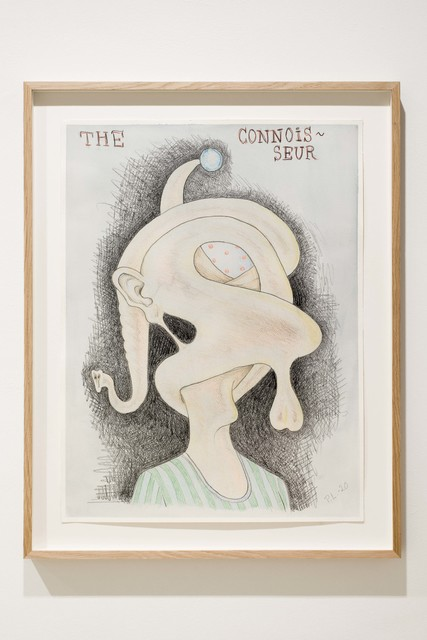 Peter Land, 'The Connoisseur', 2020, Drawing, Collage or other Work on Paper, Coloured pencil, crayon and watercolour on paper, KETELEER GALLERY