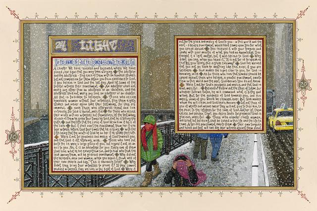, 'American Qur'an: Sura 24 A-C, triptych,' 2013, Koplin Del Rio