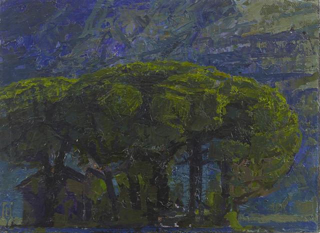, 'Wooden Clump with House, Via Ninfana, Lazio,' 2017, John Martin Gallery