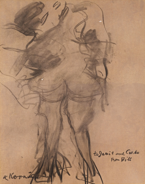 , 'Untitled (Figures) - 2 of pair,' 1954, DICKINSON