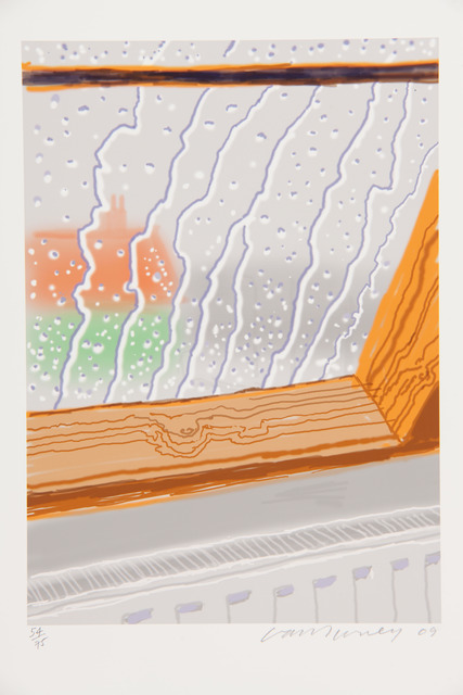 David Hockney, 'Rain on the Studio Window', 2009, RAW Editions