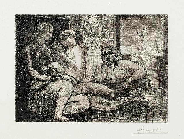 Pablo Picasso, 'Quatre femmes nues et tête sculptée, from La Suite Vollard', 1934, Christie's